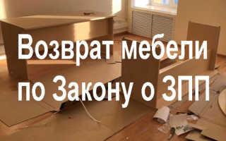 Правила возврата мебели в магазин по Закону о защите прав потребителей